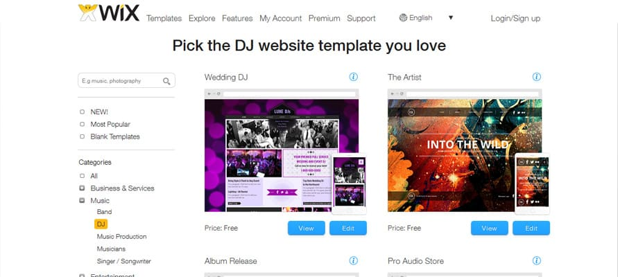 Create Your Own Professional Websites for Free with Wix